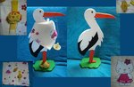 44cm wooden stork for baby's