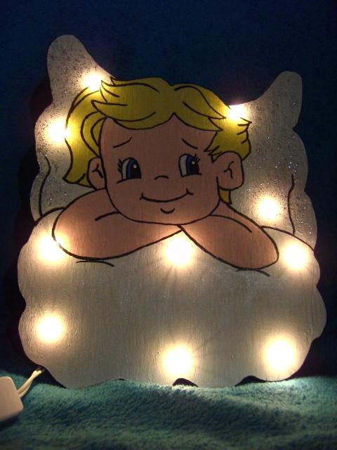 Süsse Engel Wandlampe Lampe Schlummerlampe Gisis Dekostübchen