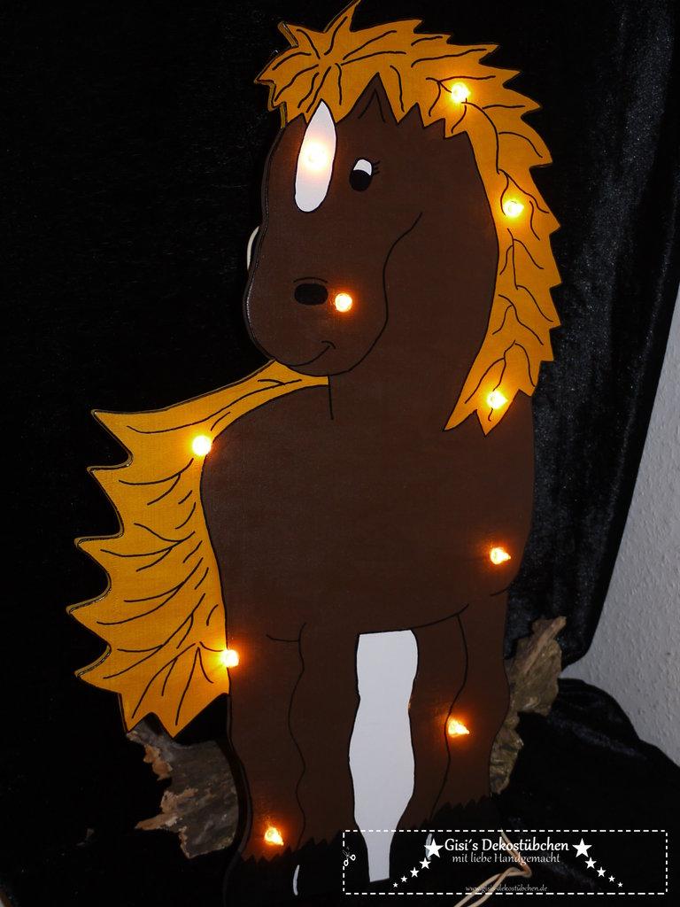 pferdelampe mit namen pferd nachtlicht pony gisi s. Black Bedroom Furniture Sets. Home Design Ideas
