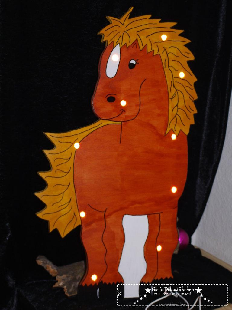 Pferdelampe mit Namen Pferd Nachtlicht Pony - Gisi´s Dekostübchen