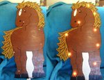 Horse lamp named horse nightlight Pony