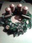 Advent wreath starlight freshly bound