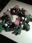 Fresh Advent wreath handmade