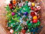 100g Mix Mehrfarbig  Acryl, Holz, Glas usw. Spacer Perlen Beads