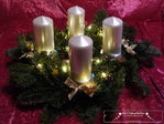 Advent wreath LED white / gold