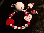 Pacifier chain with name girls
