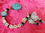 Pacifier chain with the name Elefant Stern