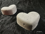 Deco heart concrete garden autumn grave decoration