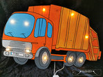 Garbage truck night light with name on the