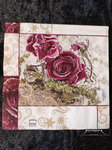 "Home Fashion Serviette ""Frozen Roses"" Lunch 33x33 Weihnachten Advent Xmas"