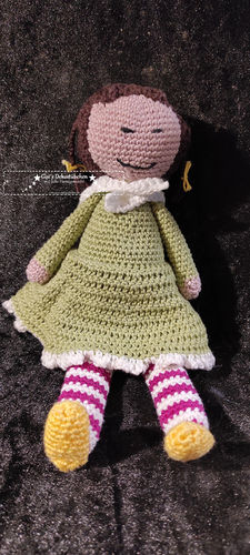 Doll soft toy crochet girl beautiful