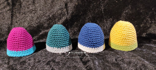 Egg warmers crocheted 4 pieces of great colors