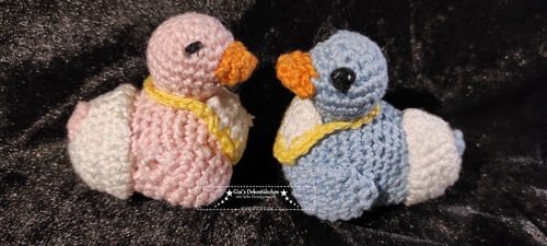 Baby ducks crocheted 2 pieces girl boy